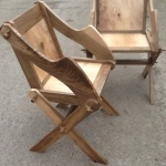 Contemporary Glastonbury chairs in walnut