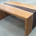low table in brown oak and wenge
