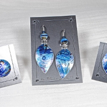 Misha-3 blue earrings